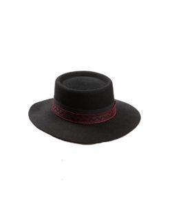 Hatt til Åmlibunad sort. Aust-Agder bunad.