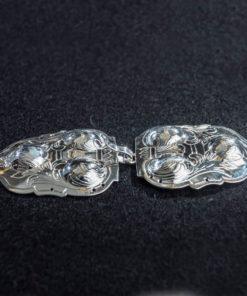 Gravert sølvspenne Slettås til Åmlibunad / Aust-Agder bunad