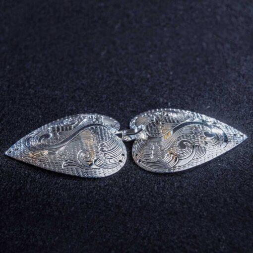 Gravert sølvspenne Vimme til Åmlibunad / Aust-Agder bunad