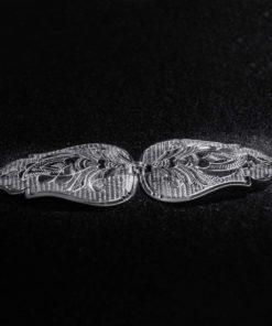 Gravert sølvspenne Hurv til Åmlibunad / Aust-Agder bunad