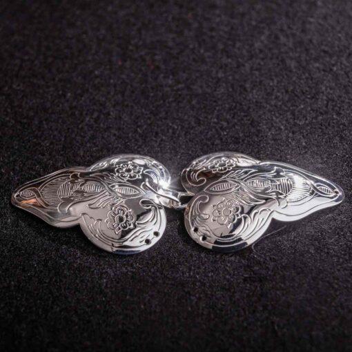 Gravert sølvspenne Ramse til Åmlibunad / Aust-Agder bunad