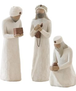 De tre vise menn til Willow Tree julekrybbe