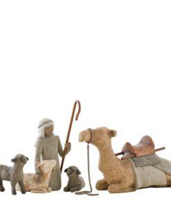 Gjeter og dyr til Willow Tree julekrybbe
