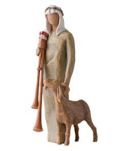 Gjeter med sekkepipe til Willow Tree julekrybbe